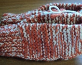 Hand Knitted Slippers - Variegated Orange