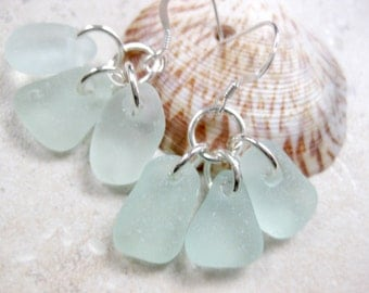 beach earrings  sea glass earrings I love jewelry seaglass earrings sterling silver dangle earrings