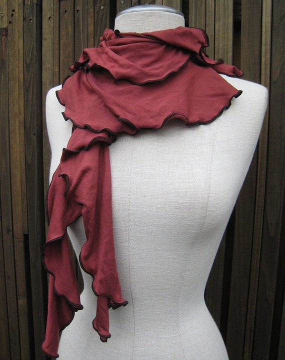 Copper brown color seaweed scarf plus made in USA