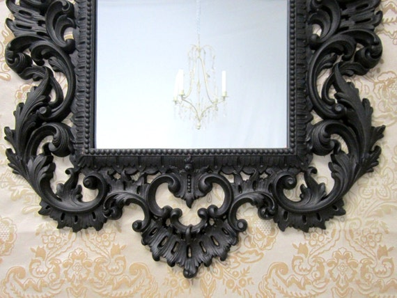 Hollywood regency mirror for sale large syroco vintage ornate for Large decorative mirrors for sale
