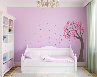 Wind Blown Tree Vinyl Wall Decal