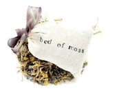Dream Pillow, Bed of Moss - Fragrant Mysterious Oakmoss, Lavender, Linden