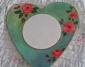 SALE 20 % OFF  Valentines day gift, Valentines day decor, Wooden heart mirror, Love sign, Shabby chic mirror, Boho mirrors, Country style