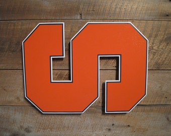 Syracuse Orange - Large Wooden Wall Decoration