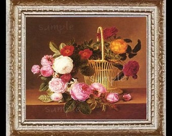 Roses Miniature Dollhouse Art Picture 6679