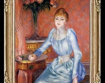 1800's Victorian Lady Miniature Dollhouse Art Picture 6761