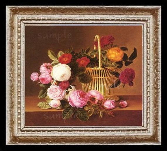 Roses Miniature Dollhouse Art Picture 6679