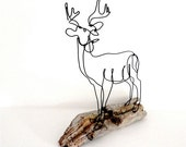 Buck Deer Wire Sculpture-161504463