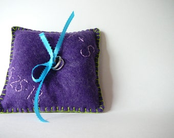 Custom Ring Bearer Pillow--Any Color You Choose