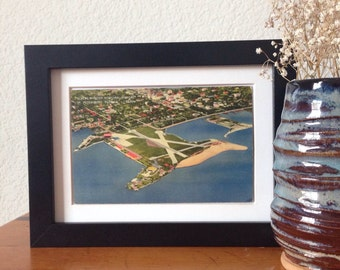 Albert Whitted Municipal Airport, St. Petersburg, Florida - framed vintage postcard