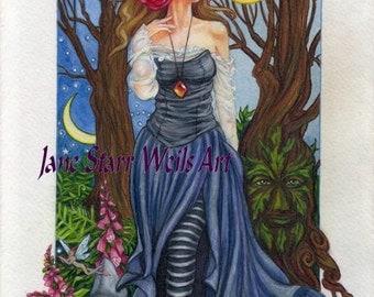 Summer Solstice Witch by Jane Starr Weils