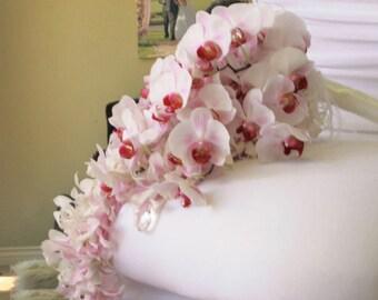 BODY SCRUB ~ Orchid Flowers Body Polish Sugar or Sea Salt Scrub 8 oz