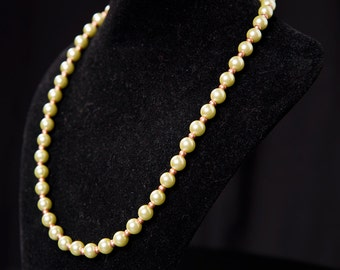 "Pearl Necklace with copper accent beads ""Green Sorbet"""
