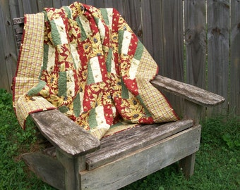 Sunflower Lap Quilt Sunshine Flowers Red Yellow Handmade