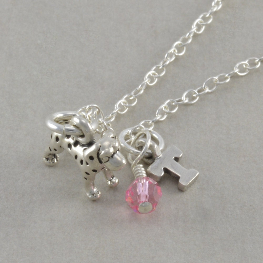 dog necklace little girls jewelry sterling by. Black Bedroom Furniture Sets. Home Design Ideas