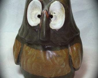Large Ceramic Owl Candle Holder