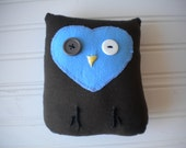 Brown and Blue Love Owl