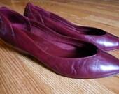 Burgundy Low Heel / Flats Size 7