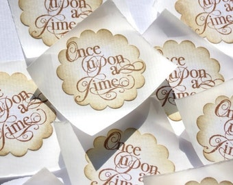 Once Upon a Time Vintage Style Handmade Stickers // Envelope Seals // Set of 12
