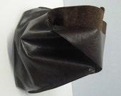 Shoulder Handbag Handmade In Chocolate Brown Leather