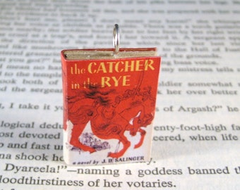 Miniature Classic Novels Book Necklace Charm The Catcher in the Rye