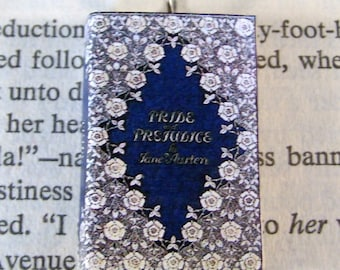 Miniature Classic Novels Book Necklace Charm Pride and Prejudice Version 3