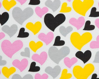 Heart print Flannel pants pajama dorm lounge made to order your choice size XS - 2X