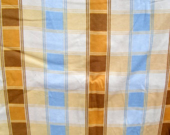 Flannel pants pajama dorm lounge made to order your choice size XS - 2X tan and brown plaid