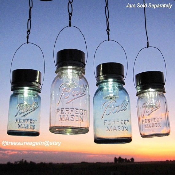 mason jar lighting hanging mason jar solar light by