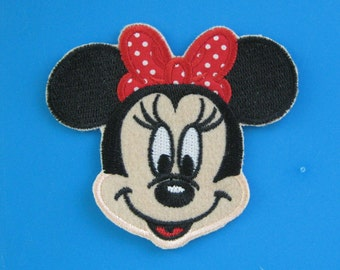 SALE~ Iron-on Embroidered Patch Minnie Mouse 3.4 inch