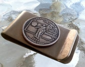 1999 Money Clip with Pennsylvania State Quarter jewelry By Custom Coin Rings