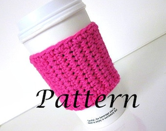 Instant Download - Travel Coffee Cup Cozy Crochet Pattern - May sell finished product