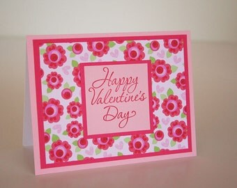 Valentine's Day Card- Flowers and Hearts