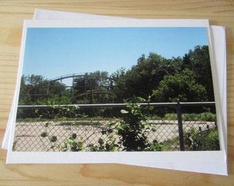Abandoned Amusement Park Blank Greeting Card Photography