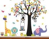 Jungle Wall Decal, Baby Wall Decal, Nursery Wall Decal, Wall Decals Nursery, Jungle Nursery Decal