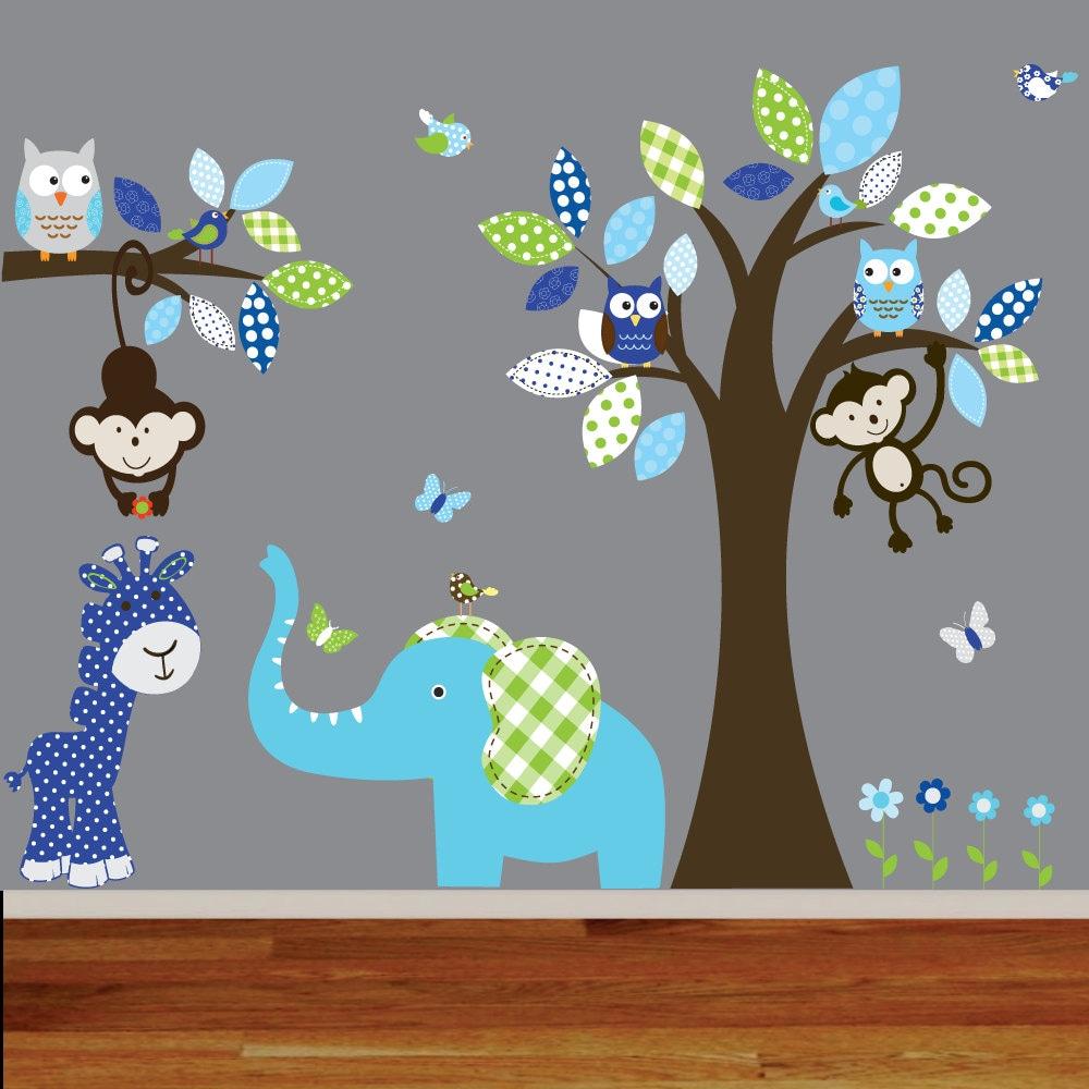 Baby Boy Nursery Wall Decals: Boy Nursery Wall Decal Jungle Decals Baby Nursery By