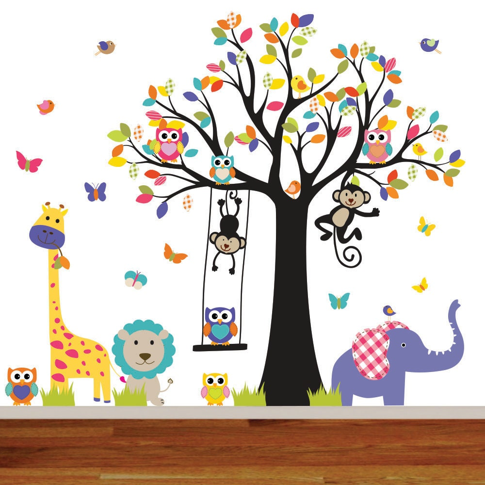 jungle wall decal baby wall decal nursery wall decal wall decals nursery jungle nursery decal