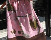 Pink and Brown Pink Camo Real Tree Camouflage Girls Pillowcase Dress Size 2-8