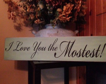 "Custom Sign Personalized Hand Painted Wooden Sign 5.5"" x 24"""