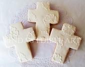 Embroidered Cross Cookie (1 Dozen)