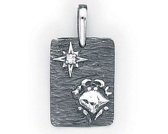 Cancer Zodiac  Pendant  Sterling Silver  505-4