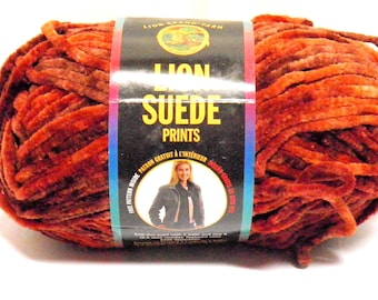 Lion Brand Suede Yarn Skein Suede Canyon Yarn Bulky Weight Yarn Rare DISCONTINUED