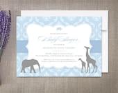 Baby Shower Invitations, Vintage Safari
