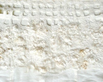 felted  white wallhanging 'April'