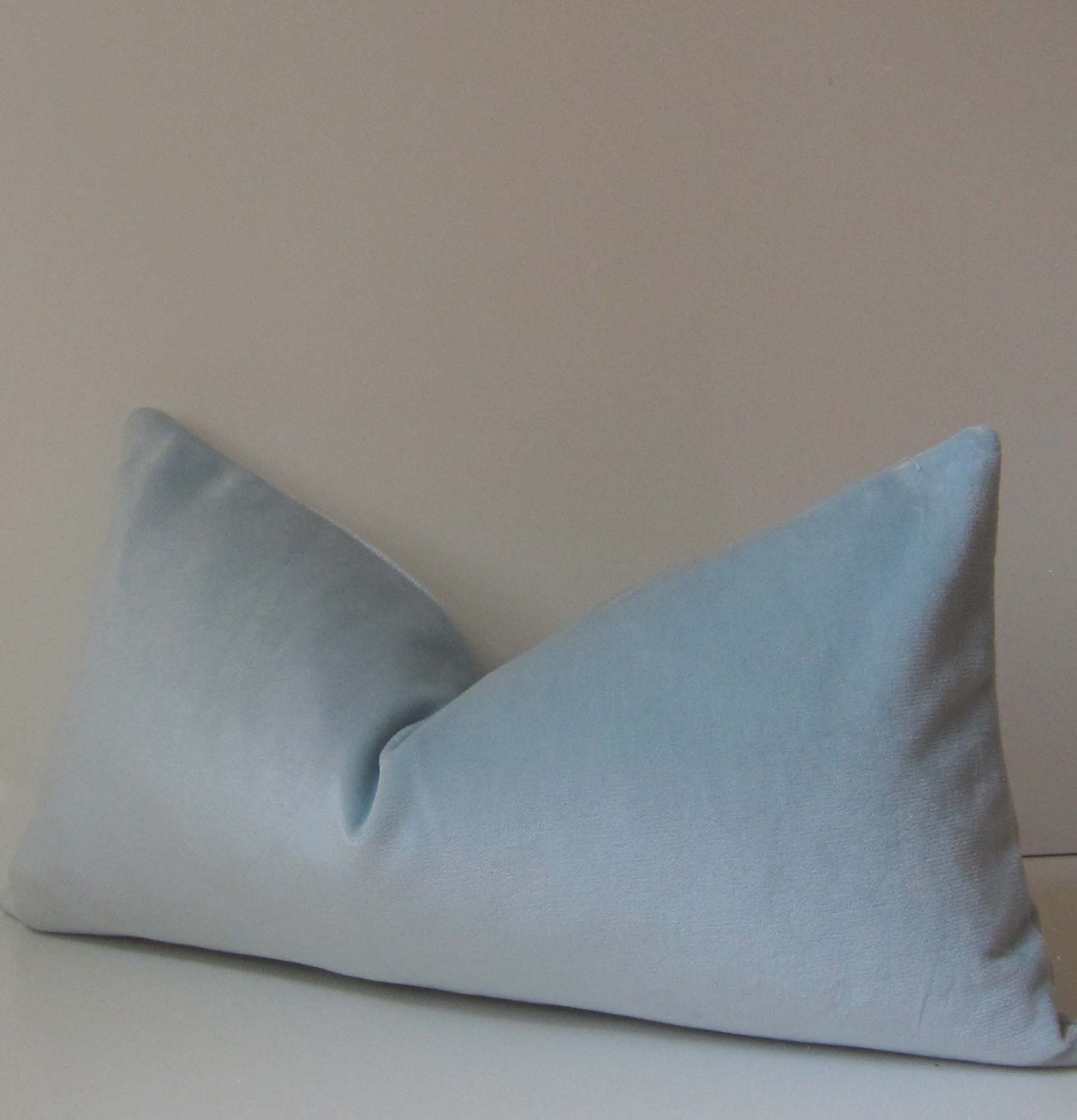 Sky Blue Decorative Pillows : Sky Blue Pillow Cover Velvet Pillow Decorative Pillow