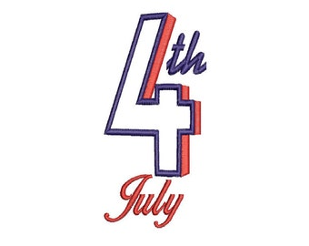Fourth of July applique design instant download
