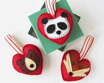 Valentine Animal Heart Decoration for your loved one (gift box included)