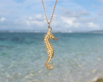 Seahorse Necklace / gold or silver seahorse necklace / pendant necklace / mom gift