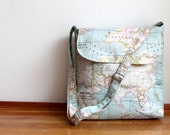 World map print,travel,traveller, back to school ,unisex, large Messenger bag,laptop bag,shoulder bag,cross body bag,Valentines day