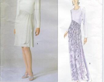 Vintage 1990s VOGUE American Designer CAROLINA HERRERA  Dress Sewing Pattern - Size 6-8-10